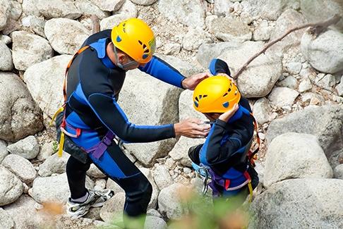 combinaison canyoning en Corse