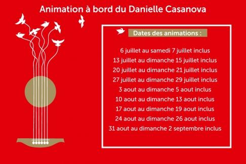 Animation à bord du Danielle Casanova