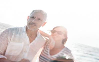 Couple on a Corsican beach