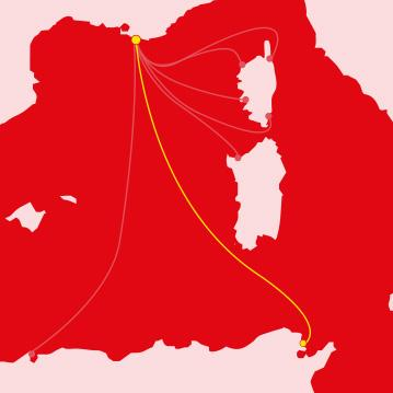 Traversata Marsiglia - Tunis - Marsiglia